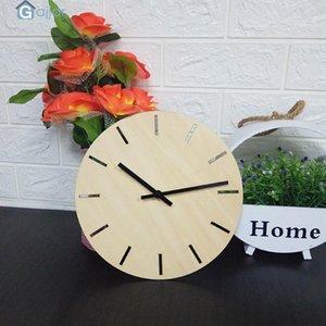 Wall Clocks Clock European Creative Wood Watch Modern Design Home Decor Silent Drop Feb21