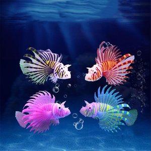 Decorations Aquarium Artificial Luminous Lionfish Fish Tank Aquatic Landscape Silicone Jellyfish Glow In Dark Underwater Ornament
