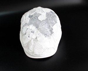 Cappello da sole del sole della paillette del cappuccio della paillette di colore bianco di estate di estate Yuyying Beret Han.