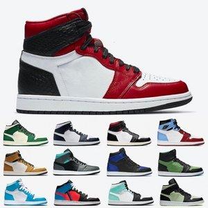 الحرير الأفعى عالية المنخفضة الرجال أحذية كرة السلة 1 ثانية فانتوم og أسود أبيض ليس للإعادة للبيع الرجال النساء الرياضة رياضة 5.5-13