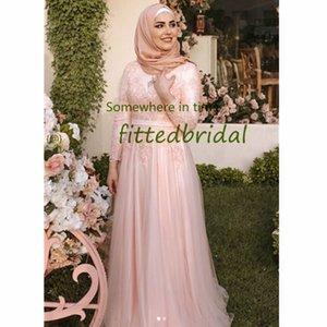 Muslim Aso Ebi Arabic Long Sleeves Prom Dresses Appliques Belt A Line Evening Dress Formal Party Gowns Vestidos