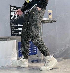 21ss France Mens womens designer pants fashion Italy pant Side webbing men women casual cotton black yellow white M-3XL
