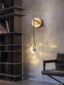 Advanced crystal full copper led lamp light  bedroom bedside simple modern living room background