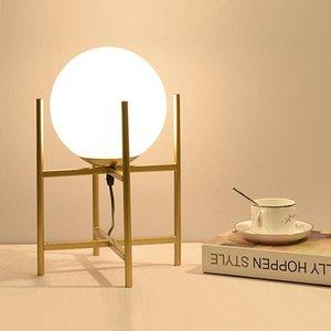 Table Lamps Modern Glass Ball Led Color Tafellamp For Living Room Dining Bedroom Abajur De Mesa