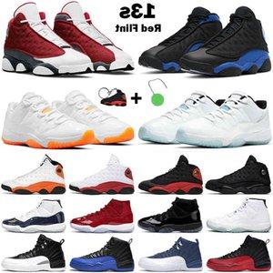 Обувь Баскетбол Мужчины Женщины Jumpman 11s Цитрусовая Легенда Синий Низкий Юбилей 13S Красный Флинт Черный Гипер Royal 12S Обратный грипп