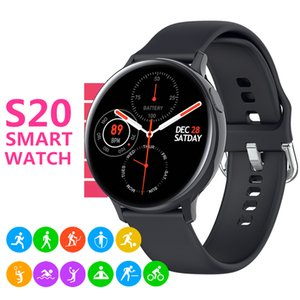 S20 ECG Smart Watch Men Women Full Touch Screen IP68 Waterproof Heart Rate Monitor Blood Pressure Smartwatch Fit 20mm Bands Replaceable