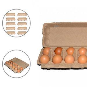 Storage Bottles & Jars Recycled 10Pcs Useful Eggs Paper Food Case Fridge Box Nature Egg Organizer Compostable For Kitchen