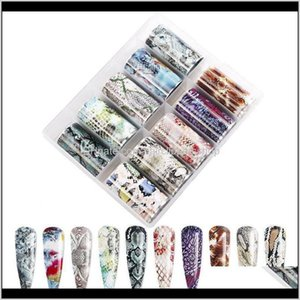 1 Box 10 Colors Snakeskin Holographic Nail Transfer Decal Leopard Snake Print Foil 11 Styles Nails Gg5Ki Stickers Decals Lzn3A