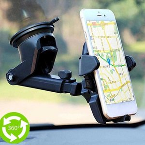 High Quality Car Phone Holder 360 Degrees Universal Smartphone Car Mount Holder Adjustable Phone Mounting Suction Cup Holder CSV