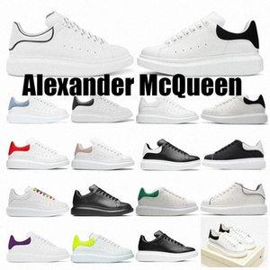 [مع صندوق] 2021 مصمم جودة عالية الرجال النساء espadrilles الشقق منصة الأحذية رياضة المتضخم espadrille أحذية رياضية مسطحة 36-46 Alexander mcqueens mqueen queen
