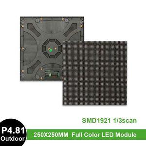 Display P4.81 Outdoor Full Color Led Module Screen 250x250mm Rental Video Panel SMD1921 RGB 52*52Pixel Matrix