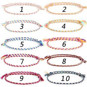 2021 Newest Handmade Braid Multicolour Rope Bracelet Bangle For Women Men Ethnic Adjustable Cuff Jewelry Couple Gift