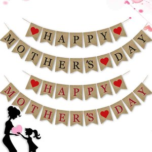 1 Set Happy Mother's Day Hanging Streamers Supplies Mabula Flag Birthday Party Gifts for Your Mom