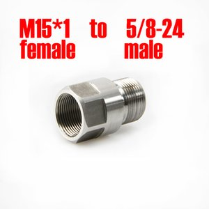 M15*1 Female To 5 8-24 Male Fuel Filter Thread Adapter Stainless Steel M15 Solvent Trap Converter for Napa 4003 Wix 24003