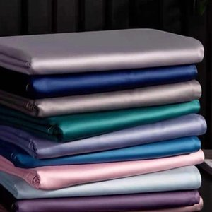 Sheets & Sets 1Pcs Sheet 60 S 300T Pure Colour Long Staple Cotton Satin-Like Fabric Bed Twin Queen King Bedding Home Textiles