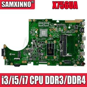 For Asus X756UA X756UAK X756UAM X756UV X756UJ X756UQK X756UVK Loptop Motherboard Mian Board Mainboard W  I3   CPU Fans & Coolings