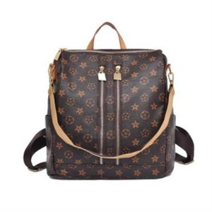 Vintage retro flower PU leather backpack handbag tote shoulder bags multi function large capacity fashion purses travel sport storage bags pack G96X4K1