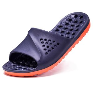 Mens Badslippers Casual Non-slip Slides Summer Massage Flip Flops Bathroom Beach Slipper Fashion Soft Sole Man Sandals Slippers