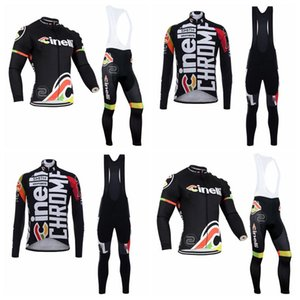MTB bicycle custom made long sleeve outdoor sports jersey sets Hot Sell CINELLI team Cycling long Sleeves jersey bib pants sets 10B2805