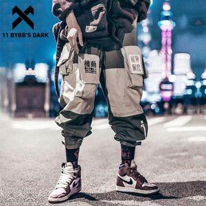 11 Pantalons cargaisaux de la patchwork de ByBb Men Harajuku Hip Hip Pantalon de survêtement Homme Joggers Homme Porte-pantalons Travistes Streetwear Techwear T200218