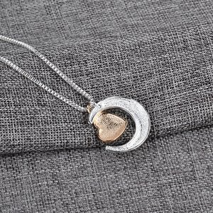 New Heart Jewelry I Love You To The Moon and Back Mom Pendant Collana Giorno Giorno Giorno Geami Moda GGA4325