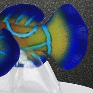 Silikon-Aquarium-Frosch-Fisch-Dekoration künstliche Fische glühende grüne Acuario-Dekor recht nettes Micro Ornament für Tank 325 R2