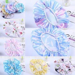 Satin Silk Nightcap Bath Chuveiro Tampões Das Mulheres Silky Cuidado Cuidado Chapéu Chapéu Cabeça Floral Headband Waterproof Elastic Sleep Caps G38GMKY