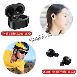 DT3 TWS Wireless Earphones Sports Invisible Headsets Bluetooth V5.0 with Magnetic Charging Case In-Ear Earbuds for Smartphone 50pcs