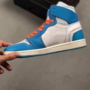 Buoni jumpmen jumpmen 1 retrò alta università blu scarpe blu bianco dark polvere cono formatori designer sneaker spedizione gratuita