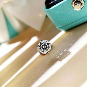 Женщины Мужчины Унисекс Классический CZ Серьги с бриллиантами Сердца 18k Белые Позолоченные сердца и Стрелки Сообщение Серьги CZ Размер 3 мм до 10 мм 250 Q2