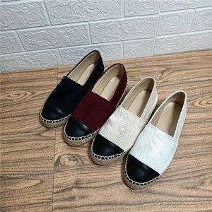 2021 fishrman عارضة الأحذية منصة espadrilles جولة رئيس النخب القش المتسكعون الراحة خمر الأحذية الجلدية مع مربع