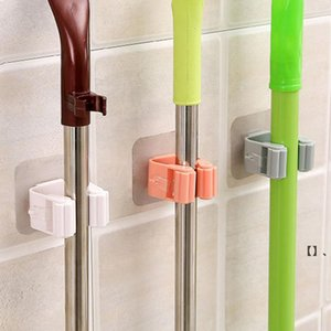 mop clips Holders Bathroom free punching toilet strong wall-mounted hook clip hanger card holder rack HHB7701