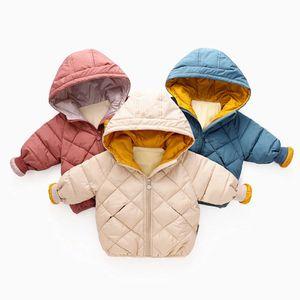 Benemaker Winter Overalls for Children Baby Jacket Girl Boy Parkas Hooded Warm Clothes Windbreaker Coat 2-8t Kid Outerwear Jh074