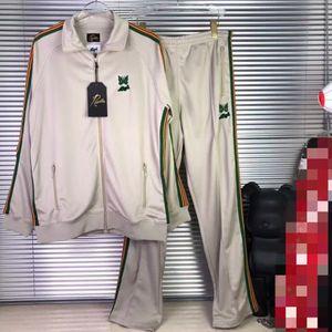Butterfly Jackets Men Women Green Embroidery Needles AWGE Jacket COATS High Quality Hip Hop AWGE