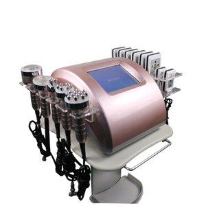 6 IN 1 Radio Frequency ultrasonic Cavitation Lipolaser Slimming Skin Tighten Weight Loss Salon Beauty Machine
