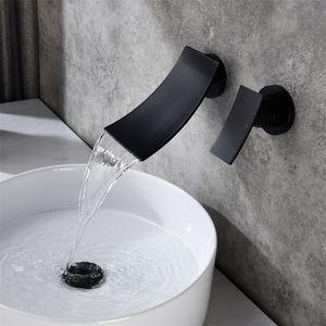 Современная ванная комната Wail Faucet Waterfall WidePread Настенный монтажный миксер