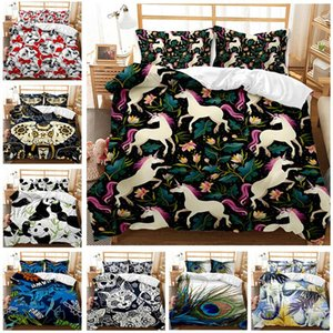Bedding Sets Animal Series Three-piece Duvet Cover 3D Digital Two-piece Or