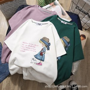 Lovely Girls Cotton Short Sleeve T-shirt New 2021 Children's Summer Sweatshirt Kids Cartoon Pattern Clothes