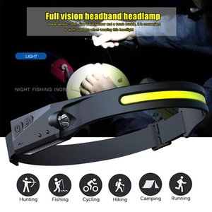 Headlamps LED Headlamp Rechargeable Waterproof Headlight With All Perspectives Induction For Outdoor Sports Camping Lighting