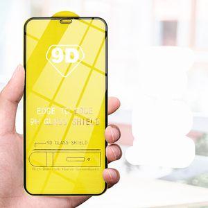 Protector de pantalla 9D para Apple iPhone SE 2021 8 7 6 PLUS GUARDO DE PELÍCULA DE PROTECCIÓN 9H CINTURÓN CURVADA CURVADO COMPLETO11 12 PRO x XR XS MAX