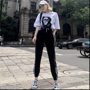 Tyjtjy Женщины Scestsuits Cousssuit Для свободных модных Женская одежда Корейский хип-хоп Принт личности свитер 2 частей набор