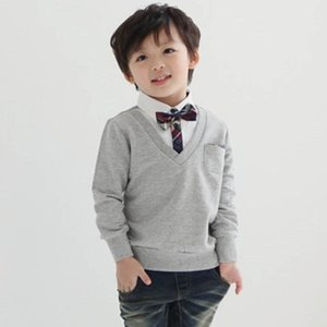 T-shirts Children Shirts Boys Baby Clothes Spring Autumn Cotton Long Sleeve Tops 2-7Y B4226