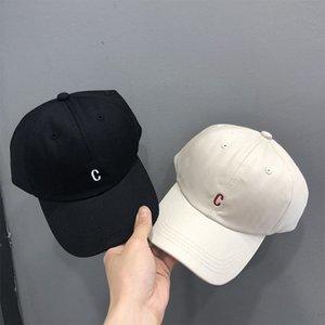 Estilo japonés simple c letra c letra béisbol gorra coreano ocasional verano verano sombrero hombre y femenino pareja pico casquillo adulto