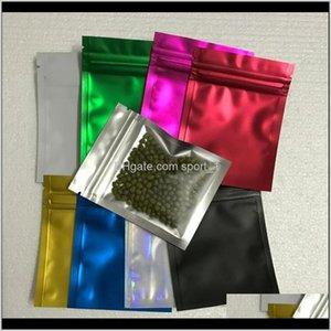 2000 unids Black Black Blue Cleas Clear Aluminio Bolsas de cremallera con cremallera autoel-sellada Paquete de bolsas bolsas para el almacenamiento de bocadillos H8UKS ZUHCT