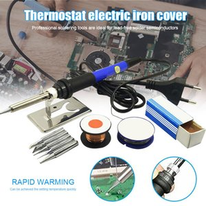 Hand & Power Tool Accessories 60W 220V 110V Electric Soldering Iron Set Kit Solder Wire Tips Stand Can CSV