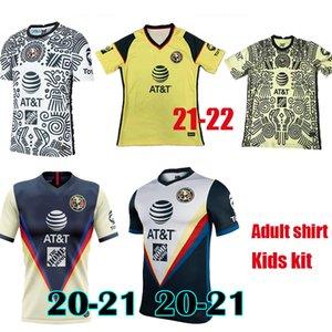 20 21 22 Liga MX Club Amerika Üçüncü Sarı Futbol Forması 2021 2022 Ev Giovani Ochoa Cordova Futbol Gömlek Çocuk Seti Camiseta de Futbol