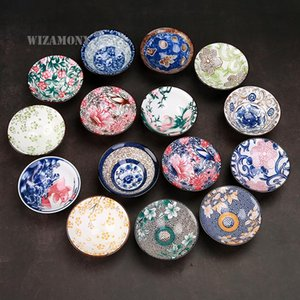 1PCS!!WIZAMONY Bue And White Color Painted Chinese Porcelain Bowl Teacup Set Ceramic Atique Glaze Master Cup Cups & Saucers