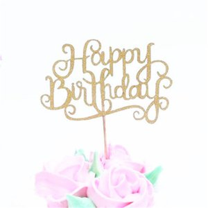 Creative Cake Flag Topper Happy Birthday Flags Single Stick For Family Birthday Party Cake Baking Decoration Supplies ju0093