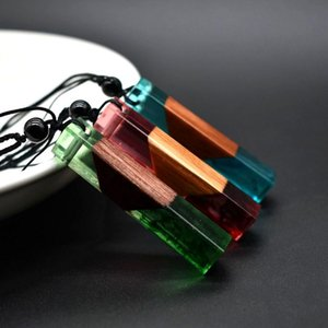 Pendants Fashion Necklaces Stick Pendant Resin Necklace For Women Jewelry Resinnecklace Charm Accessories