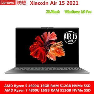 Laptop Lenovo Xiaoxin Air 15 Ryzen 4600U  4800U 16GB RAM 512GB NVMe SSD 15.6 Inch FHD IPS Screen Notebook Laptops